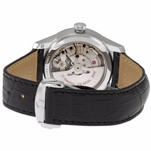 reloj omega deville automático piel negra 43113412101001