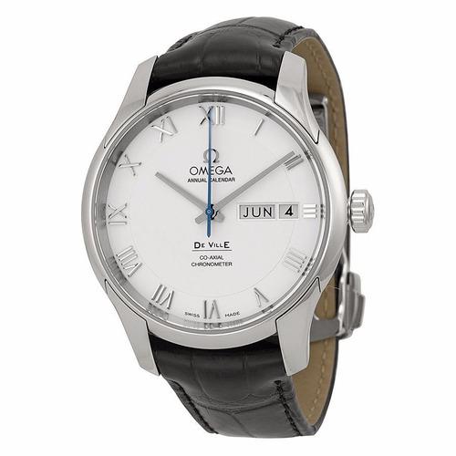 reloj omega deville automático piel negra 43113412202001