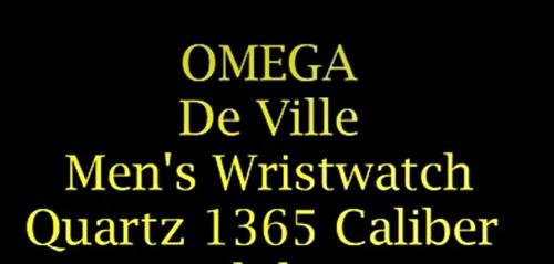 reloj omega deville, quartz de boton