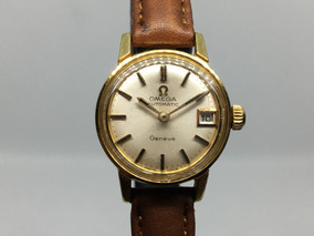 Dama 70´s Automatico Placa Reloj Omega De Geneve Oro tCBsQhrxod