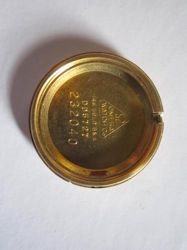 reloj omega oro dama cuerda automático diamante moneda anill