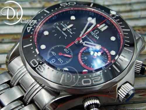 reloj omega seamaster diver 300 m co-axial acero/rojo