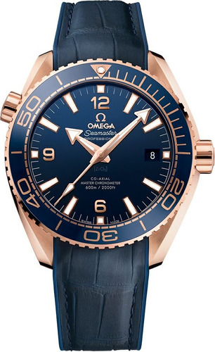 reloj omega seamaster ocean planet 600m co-axial blue/gold