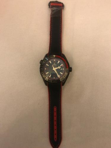 reloj omega seamaster planet ocean  edicion especial rojo