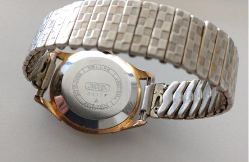reloj omodox enchapado oro malla elástica - perfecto estado