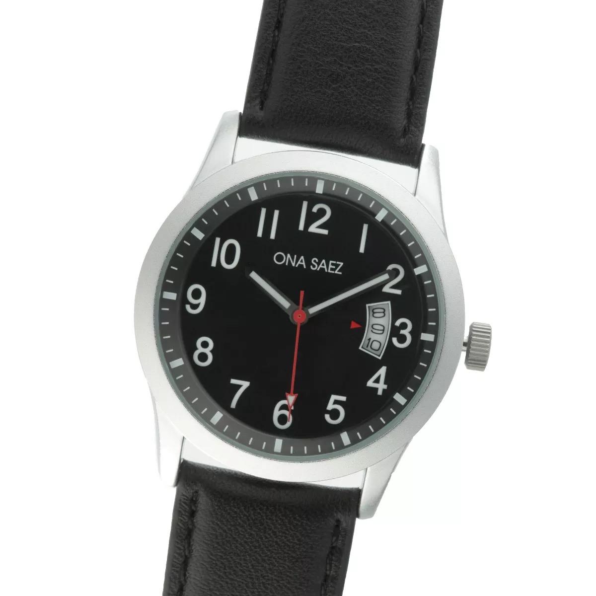 Mercadolibre reloj malla de cuero hombre
