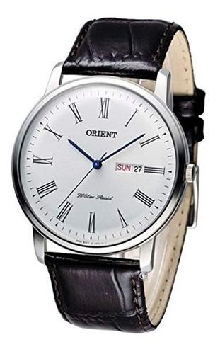 reloj orient analogo malla de cuero hombre agente of liniers
