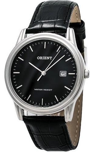reloj orient de hombre con malla de cuero negro funa0005b