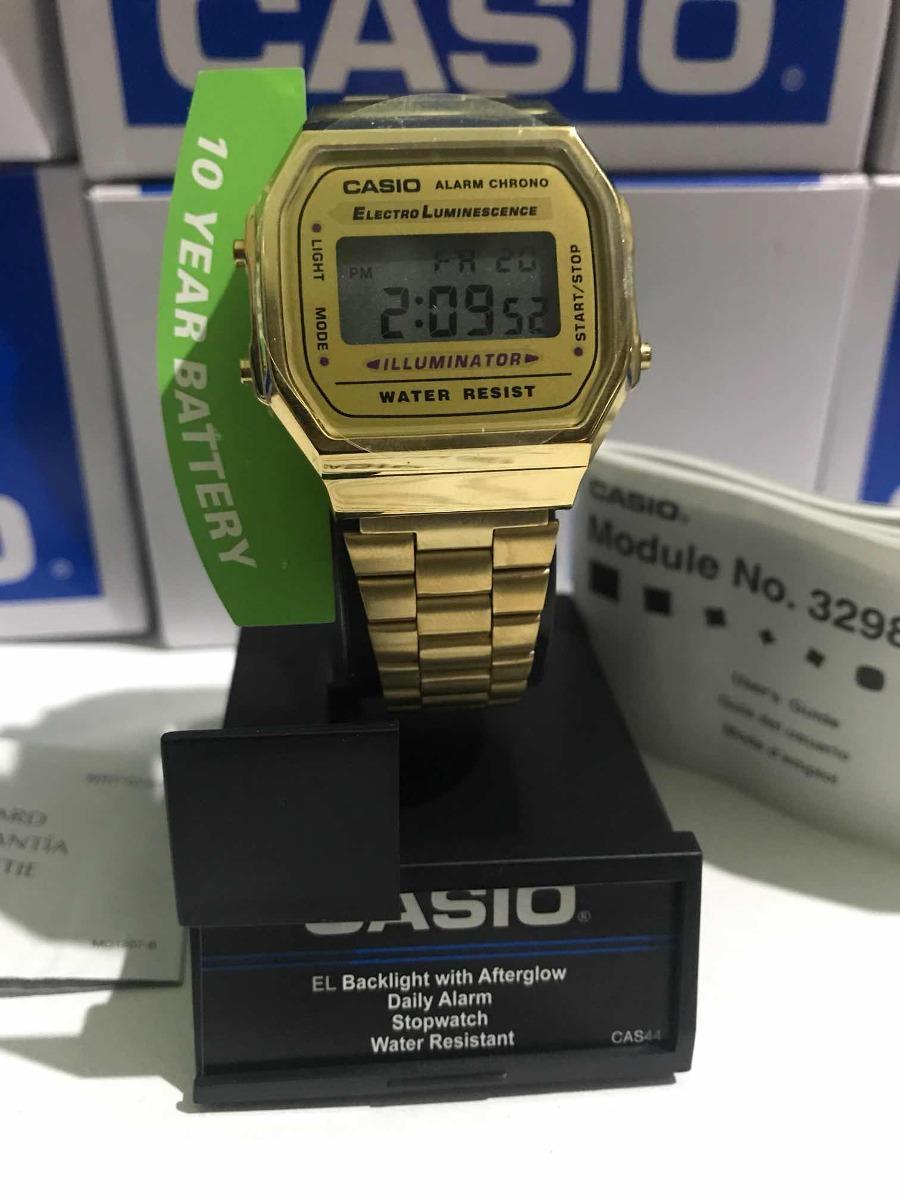 A168wg Original Reloj 9ef Dorado Casio Gold Vintage Retro CQsxtrBohd