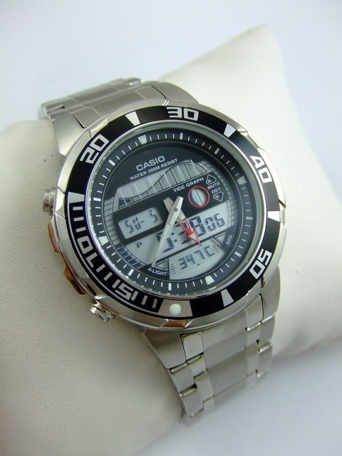 Reloj Original Casio® Duro 200 Mts Termómetro Nuevo Garantía