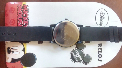 reloj original, disney, mickey, negro para niño,envió gratis
