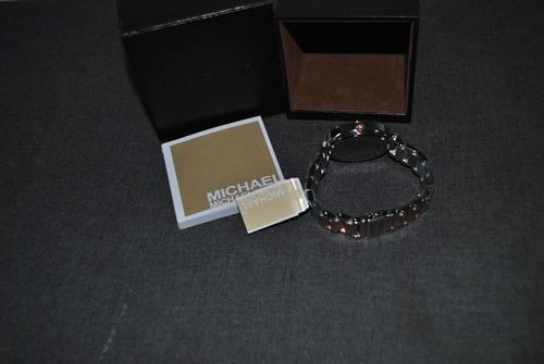 reloj original michael kors dos tonos acero y color cobre