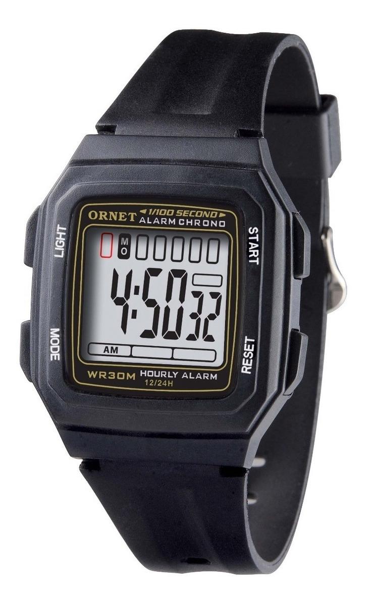 diseño innovador aa488 3c931 Reloj Ornet Digital, Caballero Wr 30m Crono Alarma