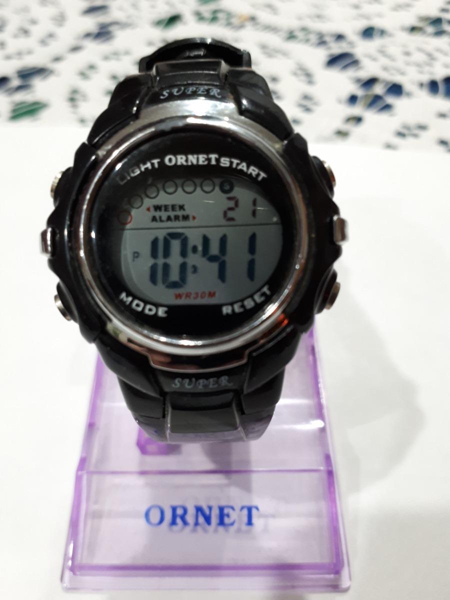 la mejor actitud de9ba c34af Reloj Ornet Digital Mujer -caucho Negro- 30 M - Muy Lindo !! - $ 550,00