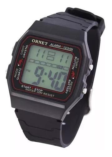 nuevo producto 18526 3a39f Reloj Ornet Hombre Digital Caucho W30m Garantia Oficial
