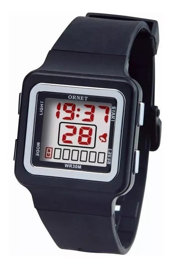 el más nuevo a7c35 9f3ca Reloj Ornet Mujer Digital Caucho Garantia Oficial