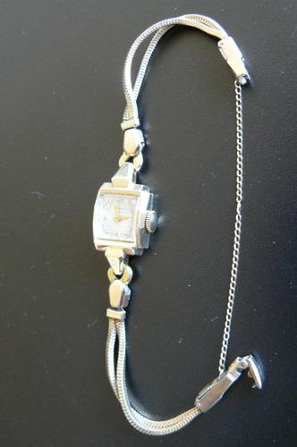 reloj oro solido 14k banner omega suizo a cuerda de 1960