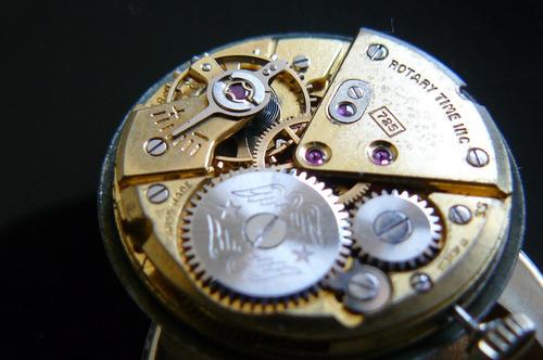 reloj oro solido suizo rotary cuerda 17 rubi año 30 mecanico
