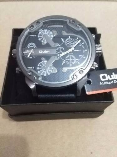 32712ad6dc4b Reloj Oulm Con Dos Relojes Caballero Hombre Elegante Casual ...