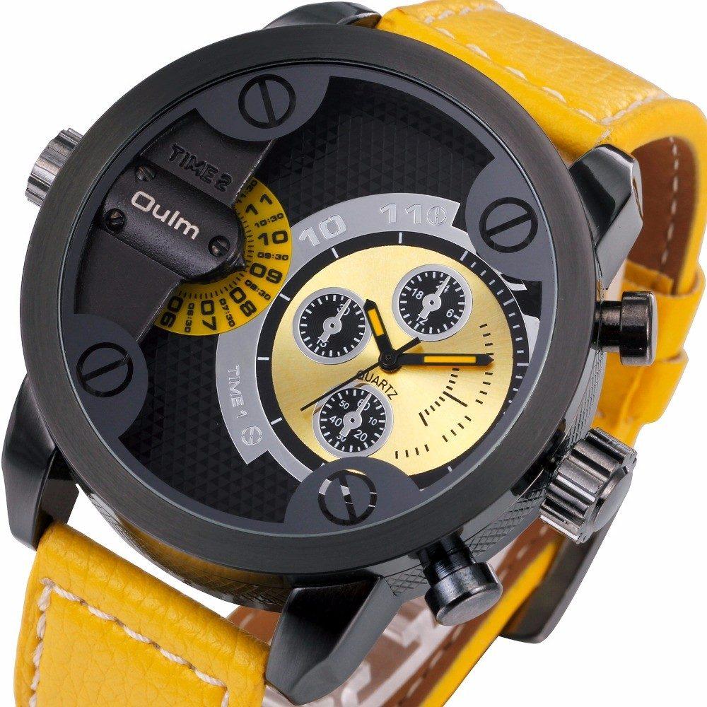 ffa375cc00ad Reloj Oulm Ruso Militar Doble Reloj Agua 60 M -   450.00 en Mercado ...