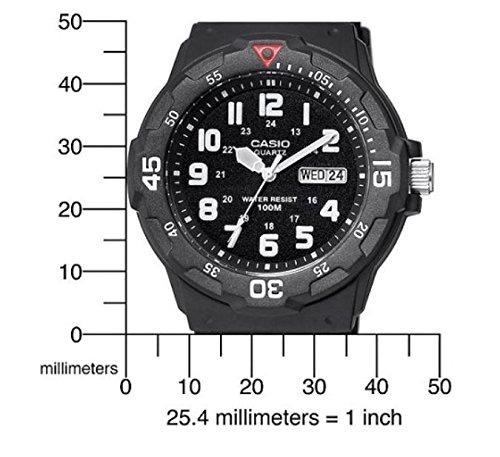 56d720a5cc2e Reloj P  Hombre Casio Mrw200h-1bv De Buceo Resina Negra Qro ...