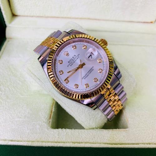 reloj para caballero date just rolex automatico c/ caja msi