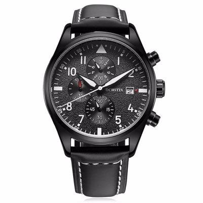 b13b8f1836b6 Reloj Para Caballero Hombre Estilo Piloto Correa Piel Negro ...