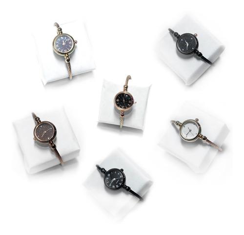 reloj para dama brazalete ajustable moda femenina