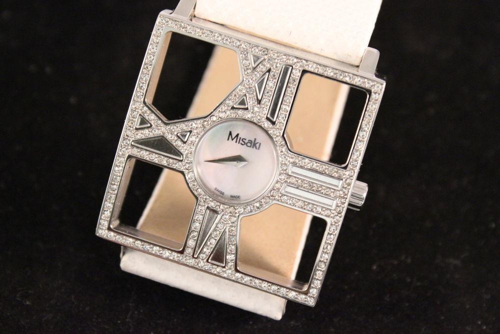 Reloj De Blanca Con Misaki Piel Correa Para Diva Dama mnwNv80