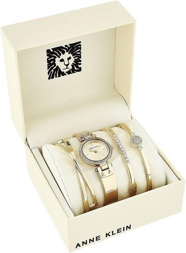 reloj para dama con cristales swarovski anne klein ak/3368