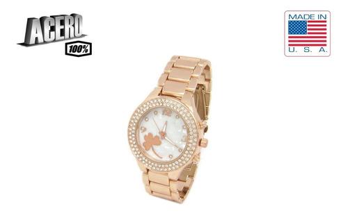 reloj para dama en acero con cristales hermoso con envio