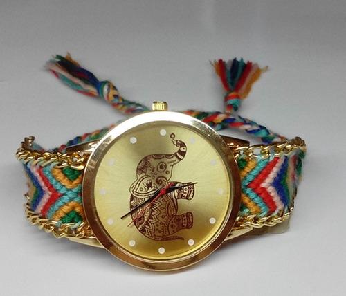 reloj para dama mujer pulsera tejida - excelente calidad