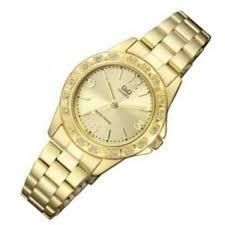 b21c8b5a4e42 Reloj Para Dama Q q Modelo Q981j003y Pulso Acerado Original ...