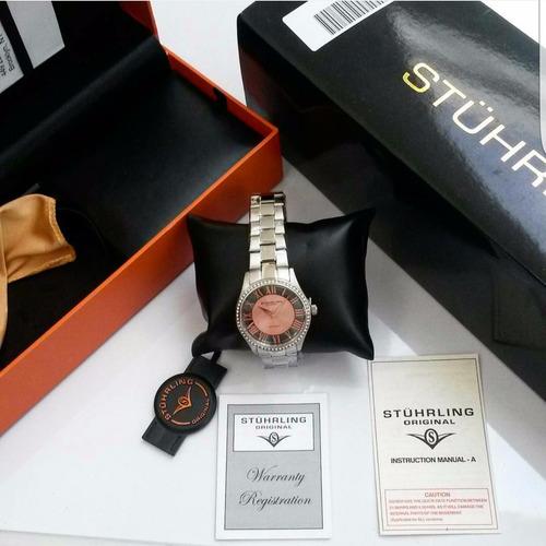 reloj para dama rosa stuhrling original nuevo