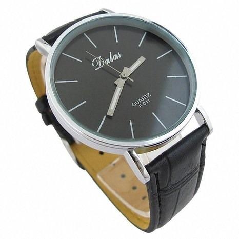 reloj para hombre clasico elegante cuero marron envio gratis