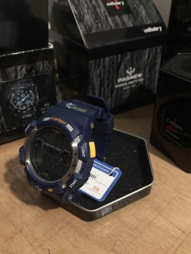reloj para hombre digital acuatico 3 alarmas led shock crono