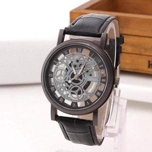 reloj para hombre en cuero piñones - detal y por mayor