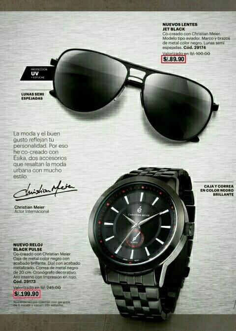 67287dc2d3 Reloj Para Hombre + Lentes De Sol / Christian Meier Ésika - S/ 290 ...