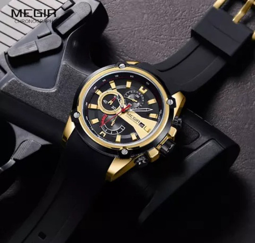 reloj para hombre megir modelo 2086 elegante deportivo