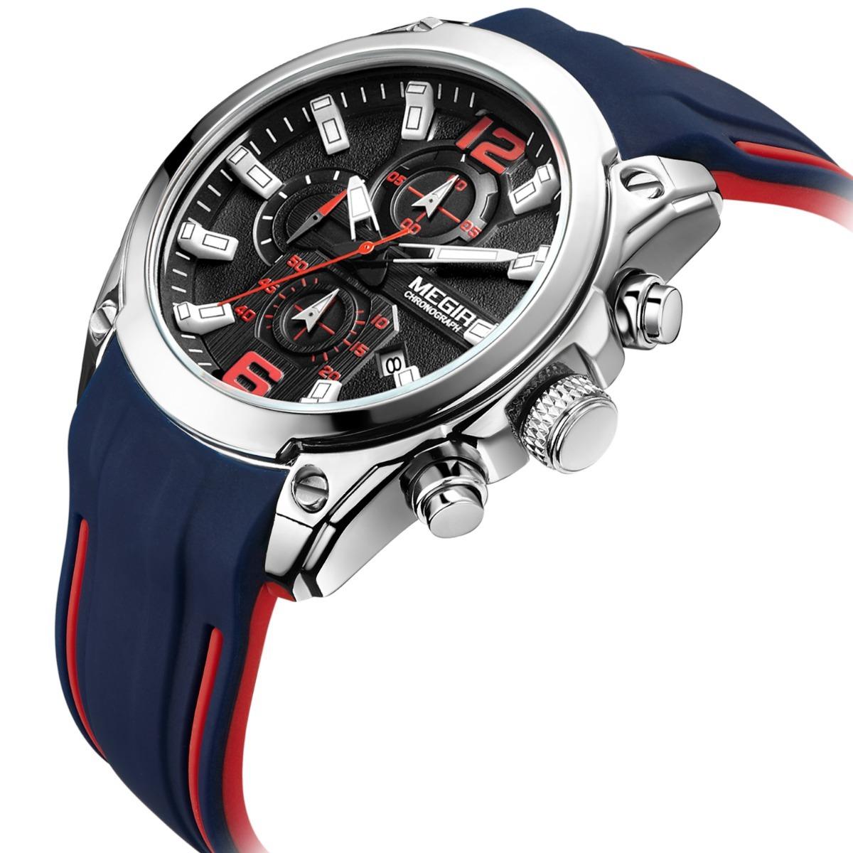 cd2e7658c70a Reloj Para Hombre Megir Original Con Cronografo 2063g -   749.00 en ...