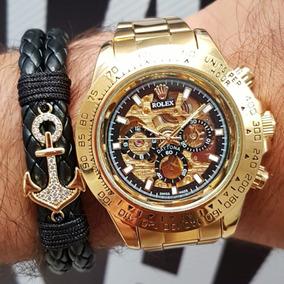 Para Hombre Rolex Automatico Dorado Reloj ikXPZu