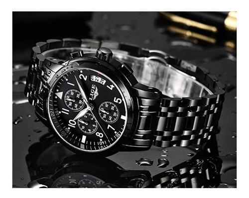reloj para hombres top brand luxury business lige silver
