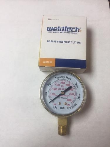 reloj para manometros oxicorte 2-1/2  weld tech