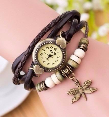 Reloj Para Mujer En Cuero Vintage Paquete Por 20 Unidades ... c141e6286132