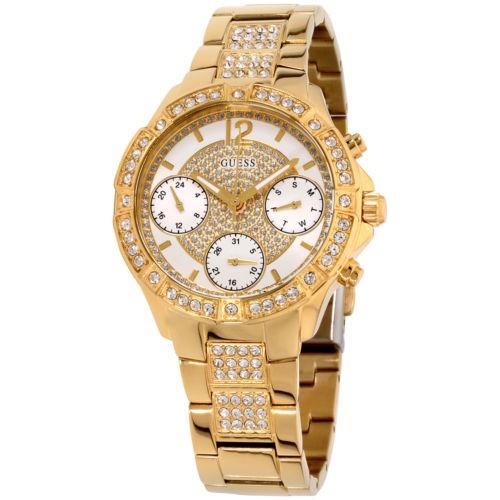 5d1dcbf461a Reloj Para Mujer Guess Roxy Con Esfera Blanca Y Acero Inoxi -   588.142 en Mercado  Libre