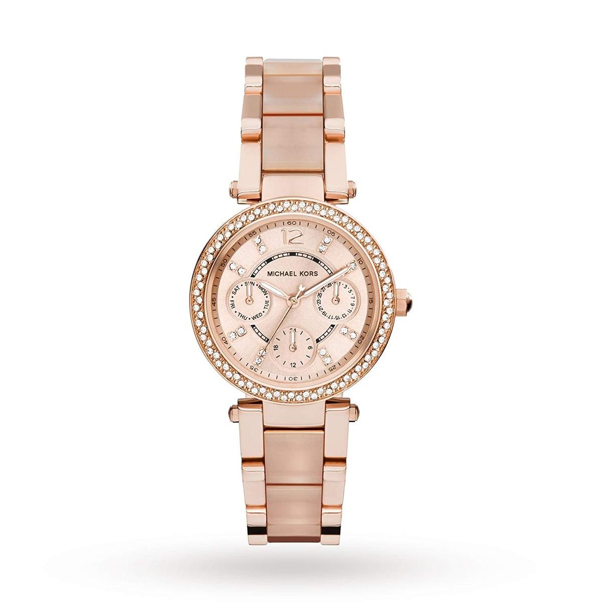 92fa94eab57d reloj para mujer michael kors color oro rosa sport parker. Cargando zoom.