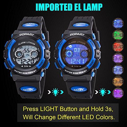 68f14368217a Reloj Para Niño Led Multi Función Waterproof Alarma Azul -   86.900 ...