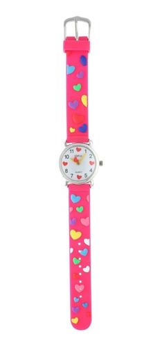 reloj para niños de agujas con corazones marca status k01