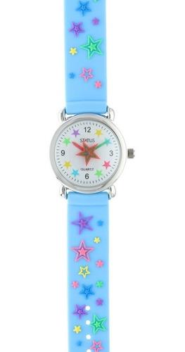 reloj para niños de agujas con estrellitas marca status k01