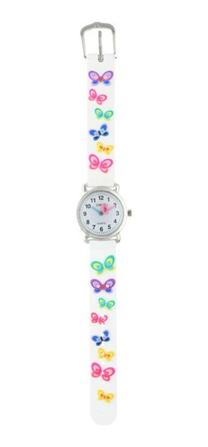 reloj para niños de agujas con mariposas marca status k01